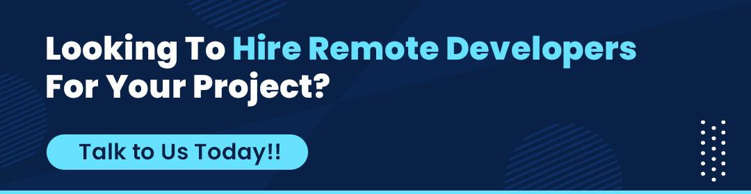 CTA button - hire remote developers