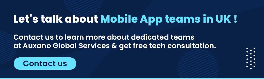 CTA button - mobile app development team in UK