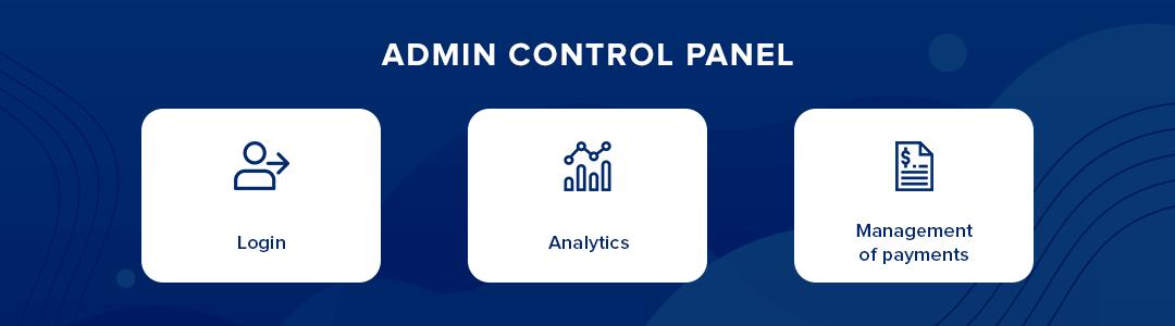 Admin control panel