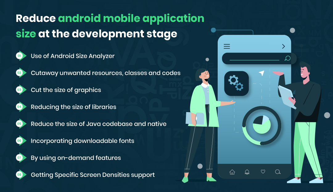 How to reduce android mobile application size at the development stage?